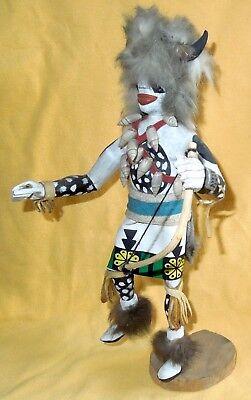 Vintage Hopi WHITE BUFFALO KACHINA *Manuel D…..* 12-Inch REAL COWRIE SHELLS