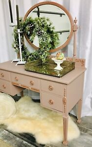 Vanity in Vieux Rose- Refinished