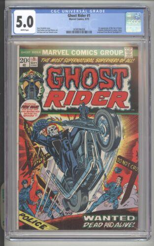 GHOST RIDER #1 - 1st APP. OF SON OF SATAN (CAMEO) - MARVEL COMICS/1973 - CGC 5.0