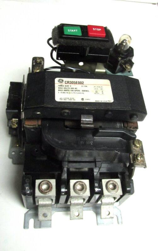 * General Electric Contactor Nema Size 3 120V Coil Cat# CR305E002 ... YG-170
