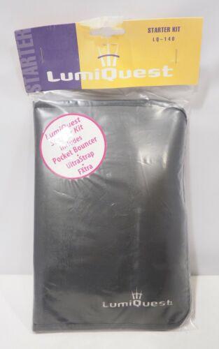 LumiQuest LQ-140 Starter Kit Pocket Bouncer UltraStrap FXtra gels NOS