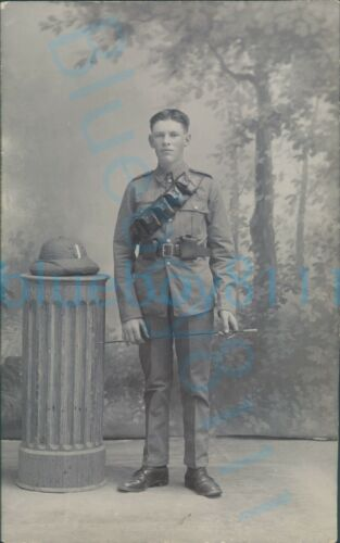 WW1 South Wales Borderers Brecknockshire Soldier In Mhow India Studio photo