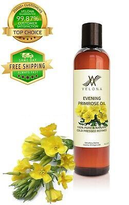 Evening Primrose Oil 8 oz NATURAL CARRIER VIRGIN Cold Pressed 100% PURE VELONA Health & Beauty