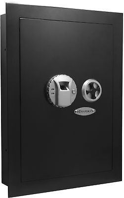 Barska Biometric Hidden Wall Safe W Fingerprint Lock Left Opening Security Box