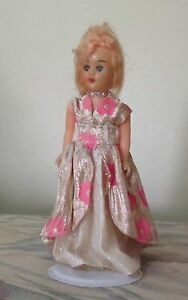 """VINTAGE MADE IN HONG KONG 8"""" STANDING DOLL DRESSED IN PINK/SILVER Kambah Tuggeranong Preview"""