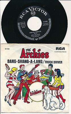 """THE ARCHIES 45 TOURS 7"""" GERMANY TRUCK DRIVER"""