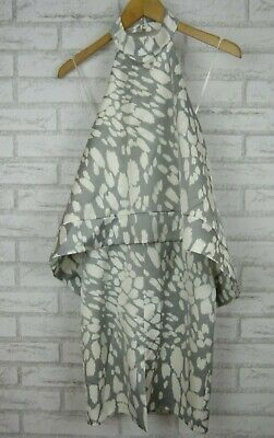 Keepsake The Label Halter Dress Grey, White Print Sz S, 8