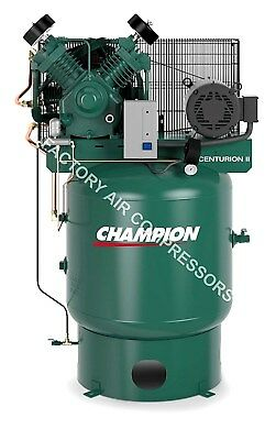 Champion Vrv7-8 7.5hp Air Compressor Two Stage Single Phase 80 Gallon Vertical