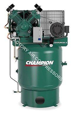 Champion Vrv7-8 7.5hp Air Compressor Two Stage Single Phase 80 Gallon Vertical
