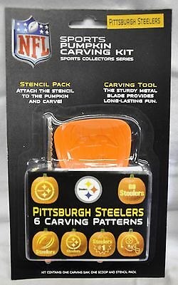 Pittsburgh Steelers Halloween Pumpkin Carving Kit New Stencils for Jack-o-latern (Halloween Pumpkin Carving Stencils)