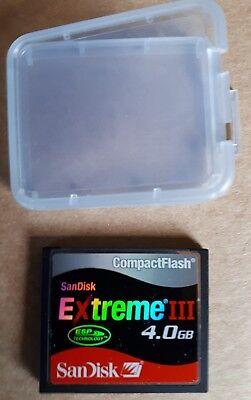 SanDisk Extreme III CF CompactFlash 4.0GB Speicherkarte -gebraucht- ()