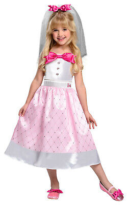 Toddler Bride Barbie Costume Dress Up Halloween Size 2T-4T
