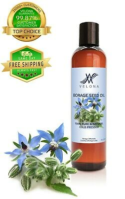 Borage Seed Oil 8 oz 100% PURE & NATURAL Cold Pressed VELONA Health & Beauty