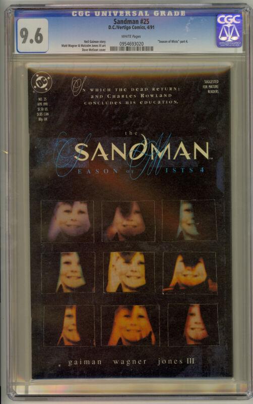 The Sandman #25 (DC/Vertigo) 1991 Dead Boy Detectives CGC 9.6
