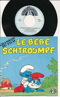 """BD LES SCHTROUMPFS 45 TOURS 7"""" HOLLANDE LE BEBE SCHTROUMPF PEYO SMURFS"""