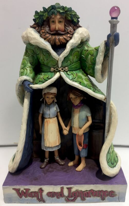 """Jim Shore 2008 Ghost of Christmas Present """"Want And Ignorance """" Figurine 4010354"""