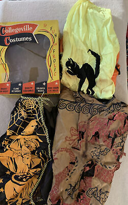VINTAGE COLLEGEVILLE CHILD'S HALLOWEEN COSTUMES -SKIRT-CAPE-CATS SPIDERS