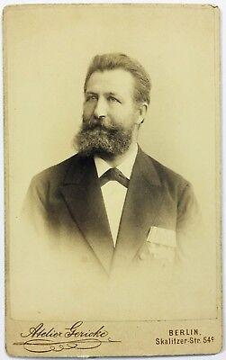 Kaschke - Kaiserreich Preußen Berlin Militär Portrait CDV Foto CAB Photo (W-3610