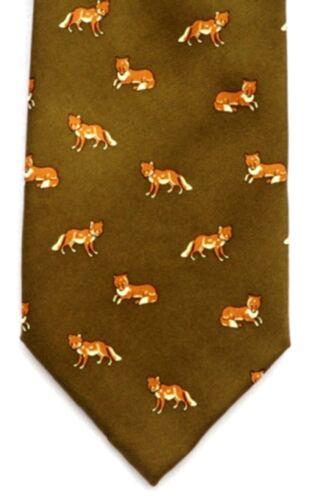 Fox Running Luxury Silk Tie Gift Ideal Hunting Gift 142