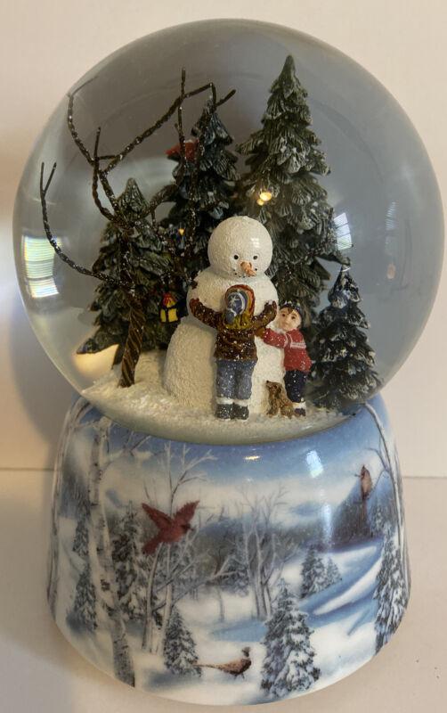 Christmas Snowman Winter Pine Tree Musical Snow Globe, Winter wonderland