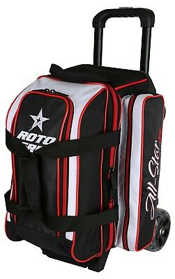 Roto Grip 2 Ball Bowling Roller Bag Color Black/White/Red NEW
