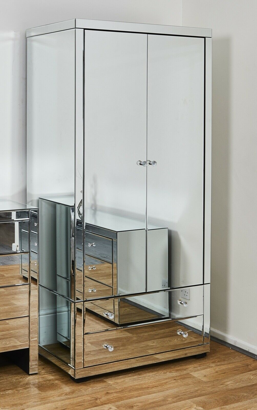 Stool Bedside Table: Mirrored Furniture Bedside Table Chest Drawers Dressing