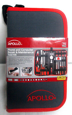 (Apollo Tools DT4943 79 Piece Phone and Computer Repair Maintenance Tool Kit)