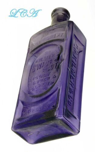 Ultimate OLD quack medicine RARE PURPLE bottle GREAT Dr Kilmer