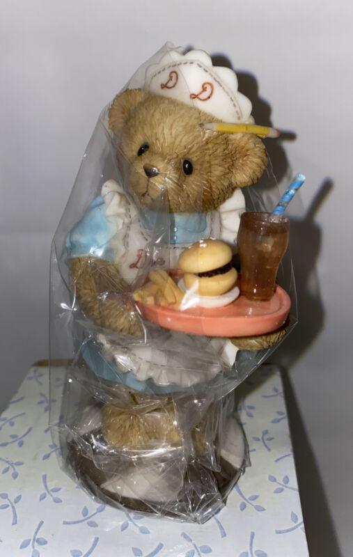 Cherished Teddies 110014 DEE DEE Waitress Teddies At Work Series 2002 Figurine