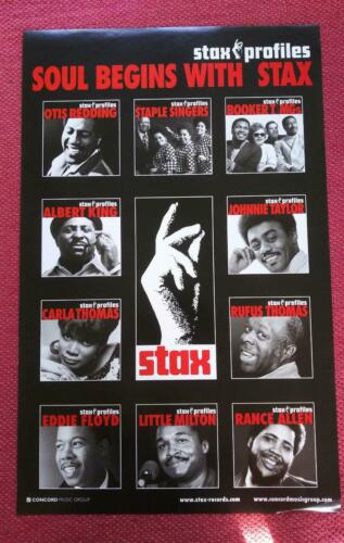 Stax Records Profiles Promo Poster - Soul Begins With Stax - Near MINT!