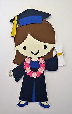 Graduation Graduate Grad Girl Paper Doll Die Cut Scrapbook Embellishement
