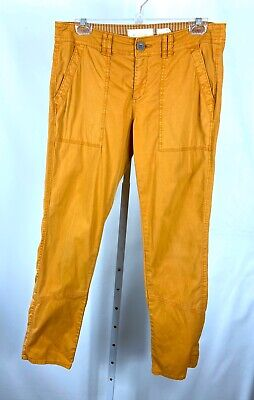 Hei Hei Anthropologie Size 28 Pants Orange Straight Leg Flat Front