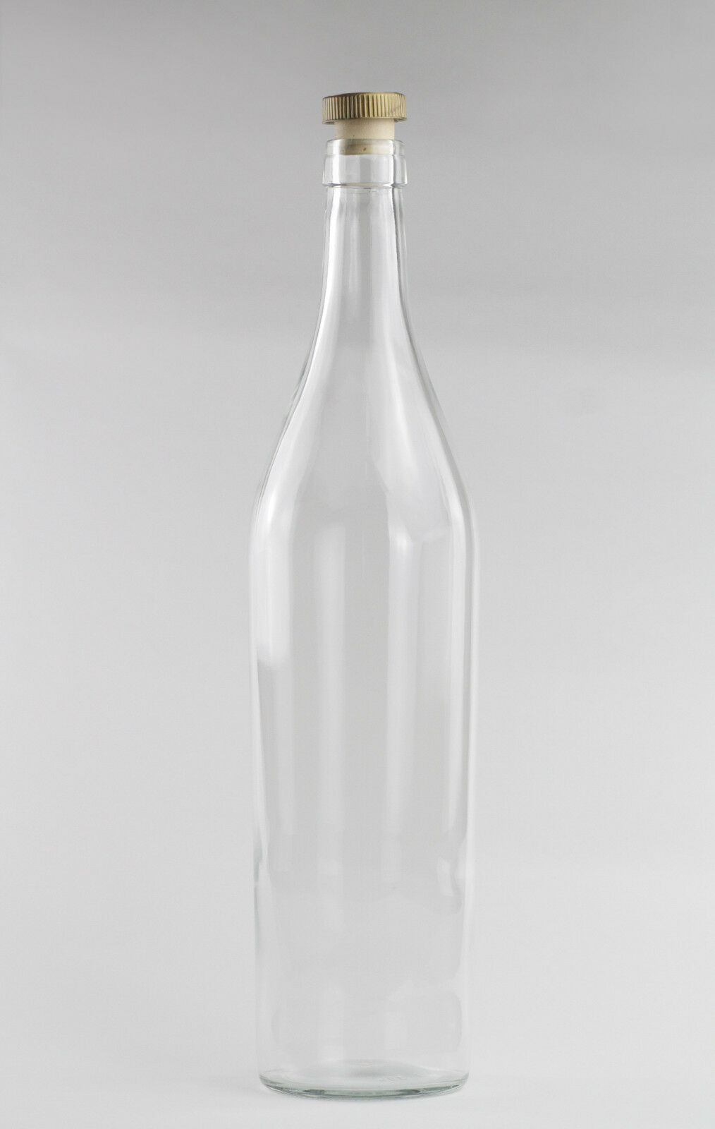 3 Liter neue Glas Flasche Asbach 3,0 Liter klar Glas Schnaps Likör Spardose