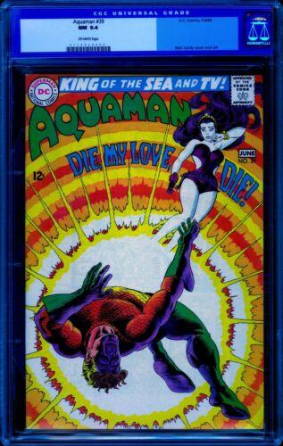 Aquaman #39 CGC 9.4 -- 1968 -- A+ centering.  #0118058006