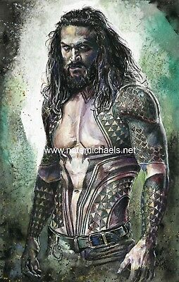 Aquaman   Jason Momoa   Justice League   Poster   Art Print
