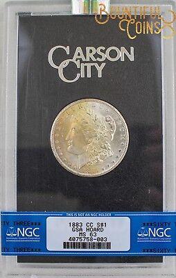 ~1883 CC NGC MS 63 GSA Hoard Morgan Silver Dollar $1 Mint State Toned (M153)~