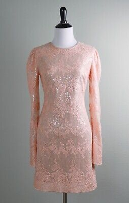 DRESS THE POPULATION NWT $238 Sequin Embellished Embroidered Dress Size XS