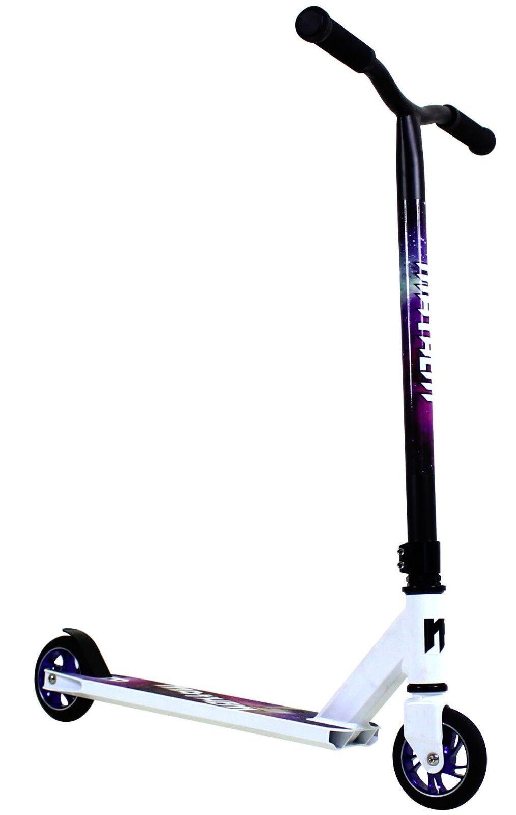 Mayhem Galaxy Pro Fixed Bar Stunt Kick Scooter White NEW SAME DAY SHIP
