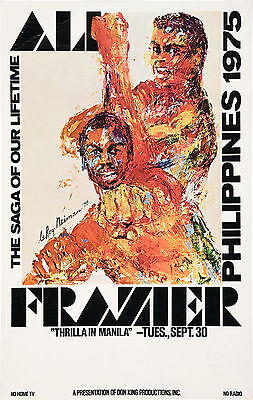Muhammad Ali vs. Joe Frazier *Thrilla in Manila* Poster 1975 Large Format