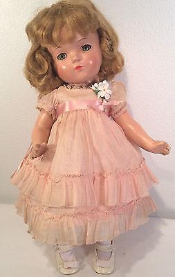 "Vintage Madame Alexander 13"" ~Betty Face ~ LITTLE COLONEL ~Original Dress 1935"