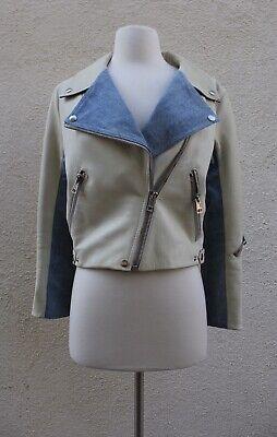 acne studios leather jacket White Denim Leather Rita Jacket S