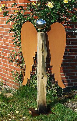 Engelsflügel 100 cm Höhe Flügel Rost Engel basteln Edelrost Weihnachten Metall