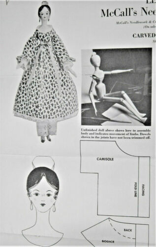 Vintage Pattern for Carved Wooden Doll McCall