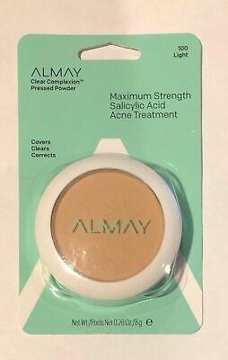 Almay Clear Complexion Pressed Powder Salicylic Acid Acne Treatment Light 100 Almay Clear Complexion Powder