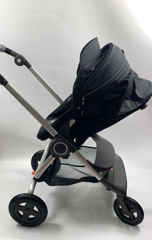 Stokke Scoot Complete Stroller With Cup Holder - Black Model 506000 MRSP $699
