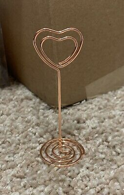 Rose Gold Heart Shaped Picture Holder 23 Count