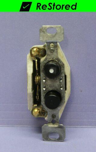 ⭐ Vintage Push Button Light Switch, Single-Pole Porcelain - ON/OFF - GE