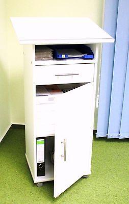 STEHPULT WEISS mit Tür /LESEPULT/ Schreibpult/ Rednerpult WmT Weiß Stehpult