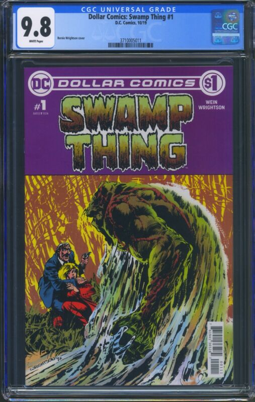 Dollar Comics Swamp Thing 1 (DC) CGC 9.8 White Pages Swamp Thing 1 Reprint