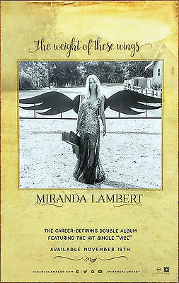 MIRANDA LAMBERT The Weight Of These Wings Ltd Ed RARE Poster+FREE Country Poster